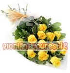 13 trandafiri galbeni