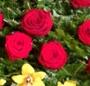 Coroana orhidee si trandafiri