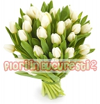 Buchet 49 lalele albe