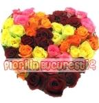 Inima trandafiri quatro
