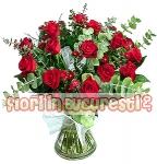 Trandafiri cu eucalipt